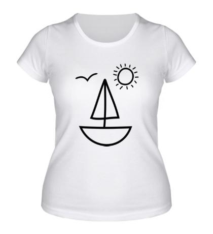 Женская футболка Настроение лето