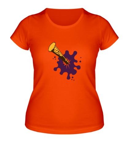 Женская футболка Кол в груди