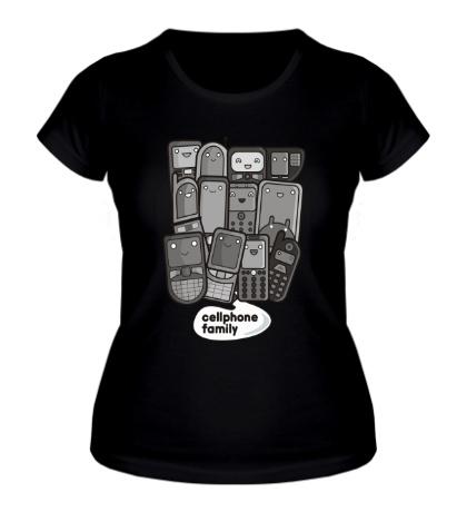 Женская футболка CellphoneFamilly