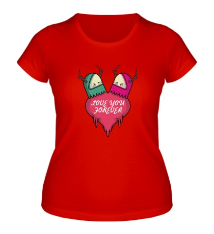 Женская футболка Love you