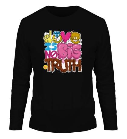 Мужской лонгслив Love is big no truth