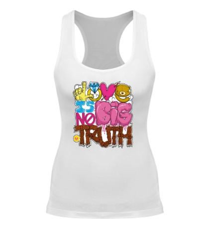 Женская борцовка Love is big no truth