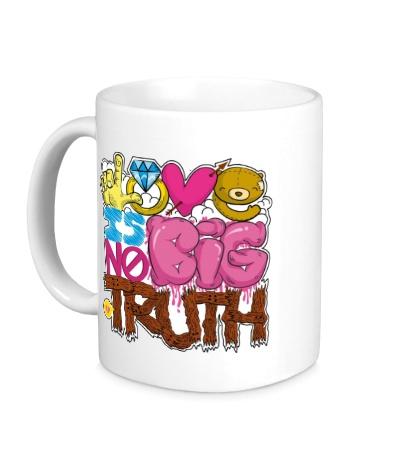 Керамическая кружка Love is big no truth