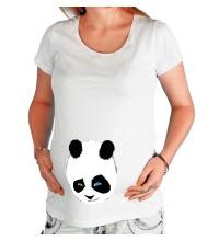 Футболка для беременной Панда подмигивает