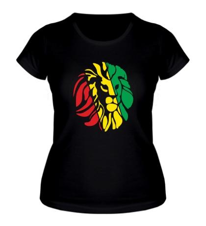 Женская футболка Африканский лев