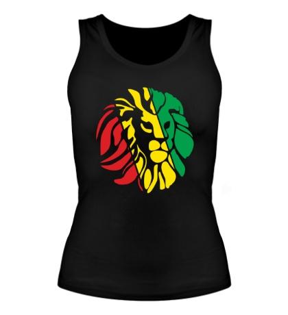 Женская майка Африканский лев