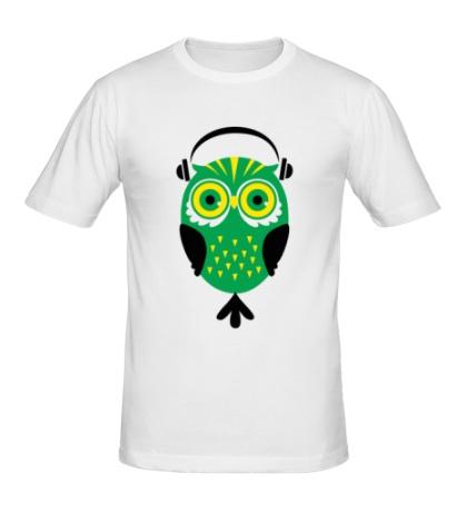 Мужская футболка Сова меломан
