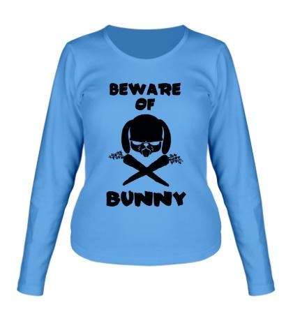Женский лонгслив Beware of Bunny