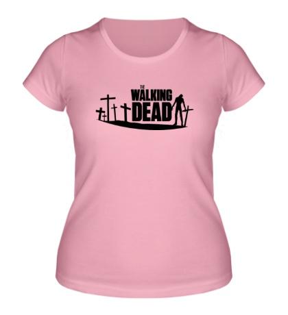 Женская футболка Walking Zombie