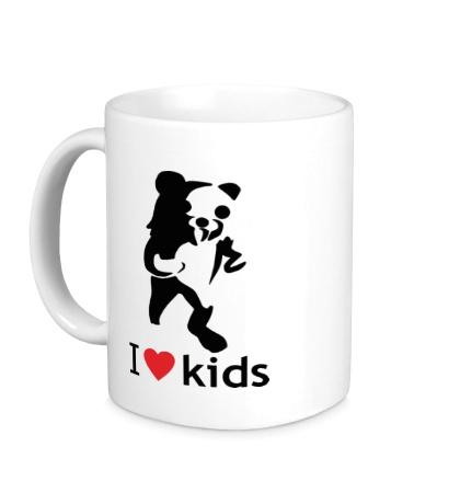 Керамическая кружка Педобир любит детей