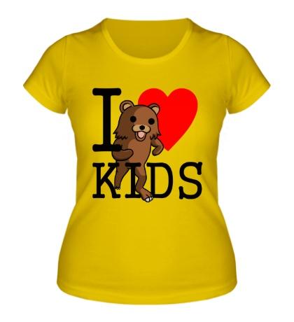 Женская футболка I love kids