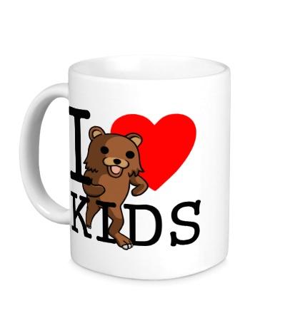 Керамическая кружка I love kids