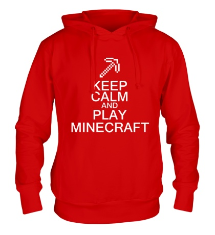 Толстовка с капюшоном Keep calm and play Minecraft