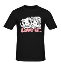 Мужская футболка Love is