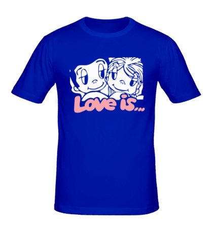 Мужская футболка «Love is»