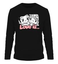 Мужской лонгслив Love is
