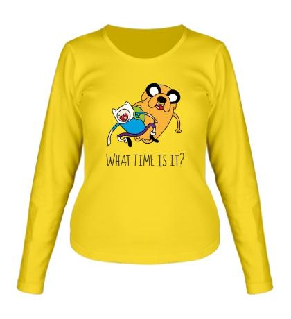 Женский лонгслив What time is it?