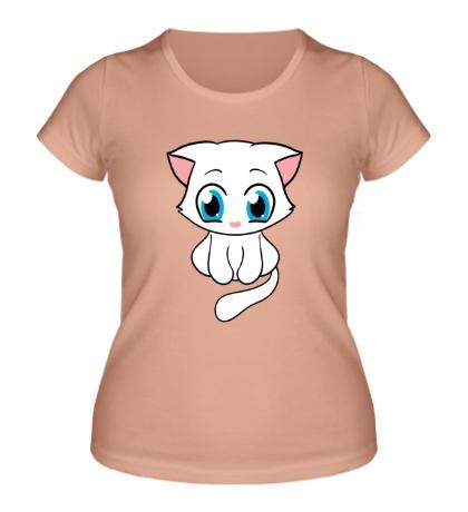 Женская футболка Милая кошечка