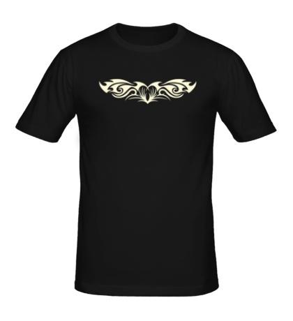 Мужская футболка Татуировка с сердцемсвет