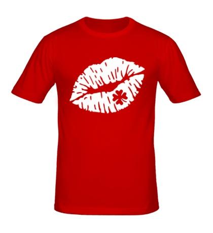 Мужская футболка Поцелуй на удачу