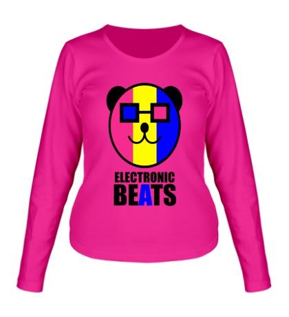 Женский лонгслив Electronic beats