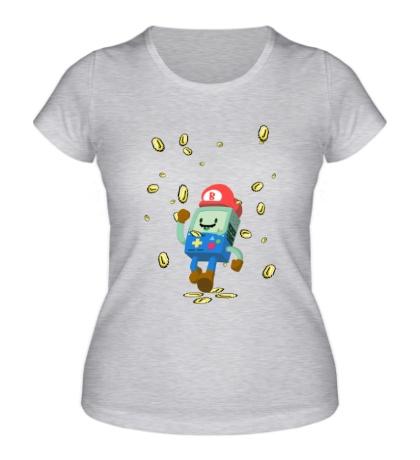 Женская футболка Mario Coins