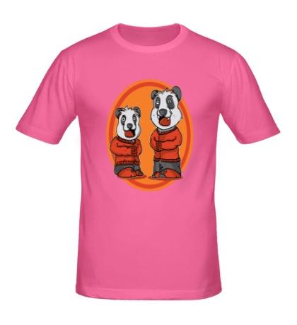 Мужская футболка Смешные панды
