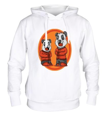 Толстовка с капюшоном Смешные панды
