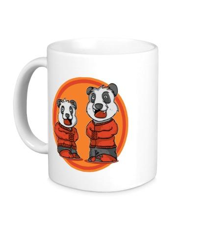 Керамическая кружка Смешные панды