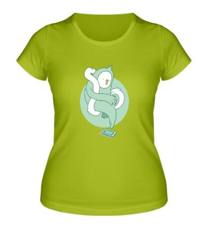 Женская футболка Призрак