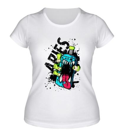 Женская футболка Опасный балон