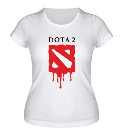 Женская футболка Blooded Dota 2