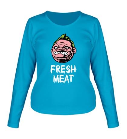 Женский лонгслив Pudge: Fresh Meat