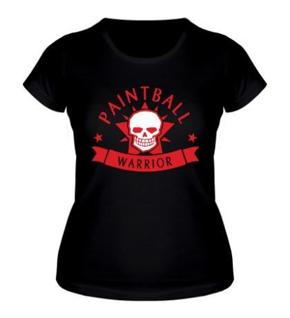 Женская футболка Paintball warrior