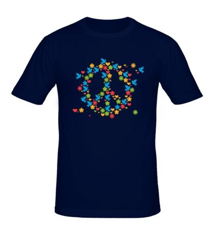 Мужская футболка Знак мира
