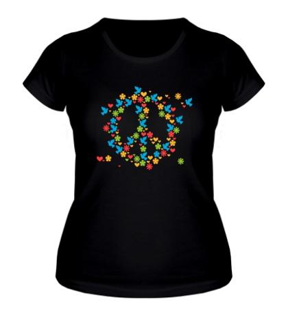 Женская футболка Знак мира