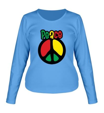 Женский лонгслив Peace