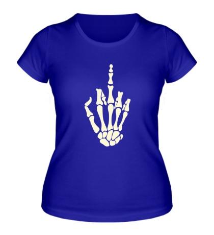 Женская футболка Skeleton Fuck Glow