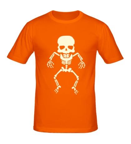 Мужская футболка Скелет малыша, свет
