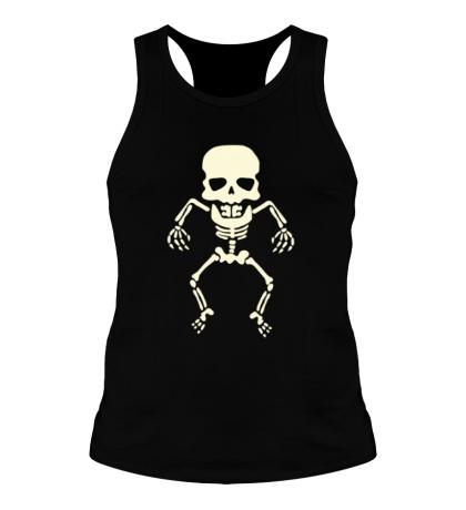 Мужская борцовка Скелет малыша, свет