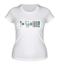 Женская футболка Чисти !