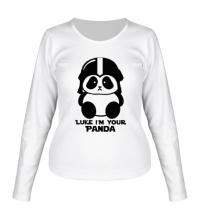 Женский лонгслив Luke im your panda