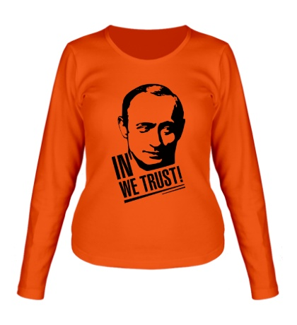 Женский лонгслив Putin we Trust