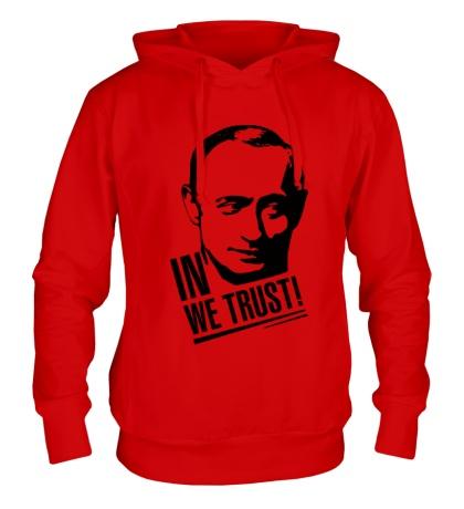 Толстовка с капюшоном Putin we Trust