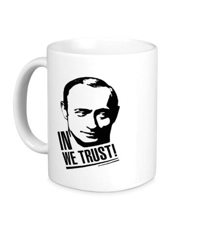 Керамическая кружка Putin we Trust