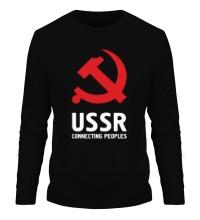Мужской лонгслив USSR: Connecting Peoples