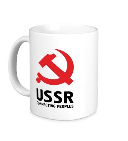 Керамическая кружка USSR: Connecting Peoples