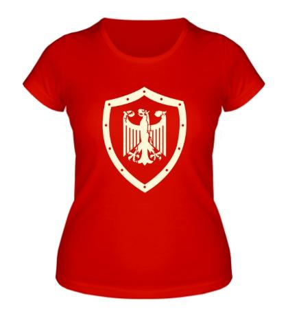 Женская футболка Гербовый орел, свет