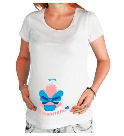 Футболка для беременной Ангельский пузожитель
