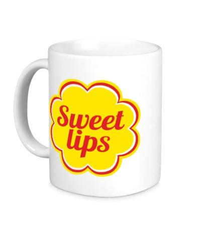 Керамическая кружка Sweet lips